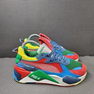 Youth Sz 4.5 Red Puma RS-X Running Shoes